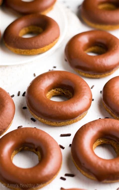 Chocolate Glaze Donut Glaze healthy pumpkin donuts with chocolate glaze s