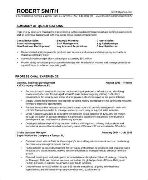 resume exles for experienced professionals 7 professional resume exles sle templates