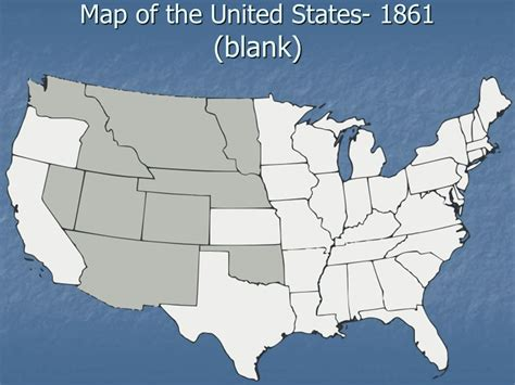map of usa 1861 events that lead to the civil war ppt