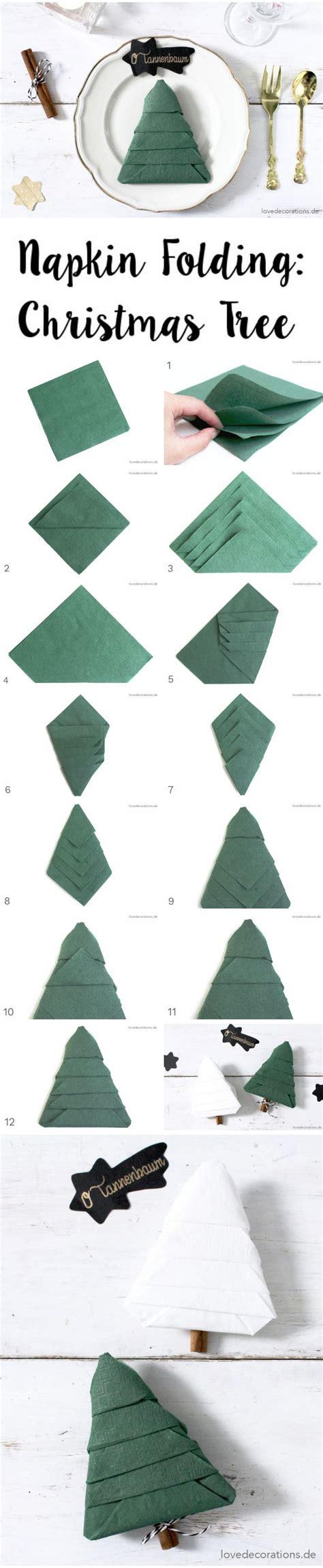 tannenbaum aus servietten basteln 25 best ideas about napkins on