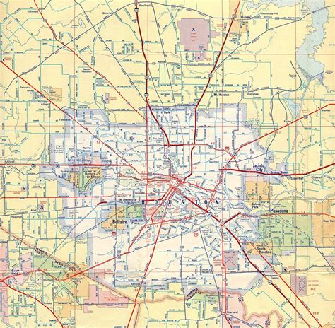 houston map in usa houston road map road map of houston usa