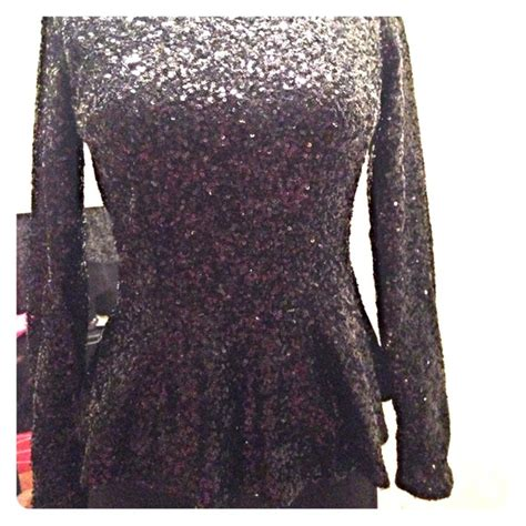 Coach By Bagladies 65 missguided tops black sequin sleeve peplum