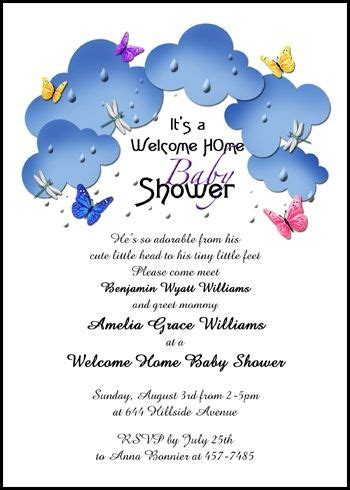 Welcoming Baby Shower by Personalize Your Welcoming And New Baby Butterflies In