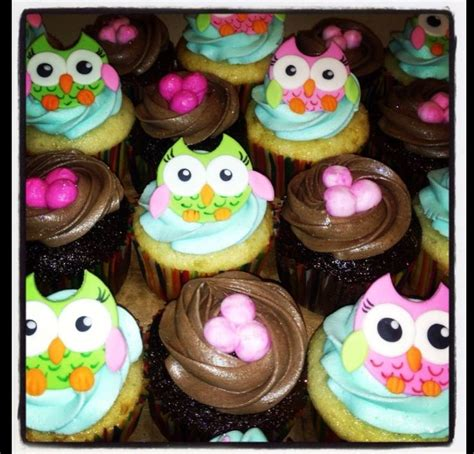 owl baby shower cupcakes baby shower owl cupcakes i made food