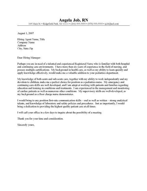 rn cover letter templates successful job hunt clr