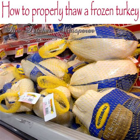 how to properly thaw a frozen turkey