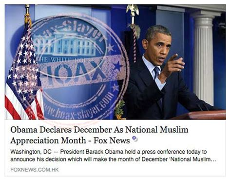 no obama has not declared december as national muslim