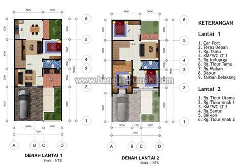 desain rumah 2 lantai di lahan 7 x 15 m2 studio desain rumah jakarta