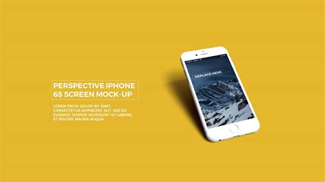 free powerpoint template with realistic iphone 6s app ui