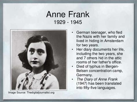 anne frank biography extract history know it all page 3
