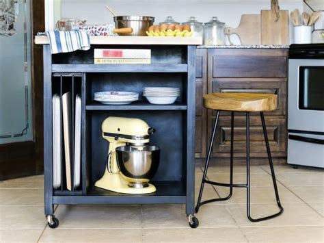 build  diy kitchen island  wheels hgtv