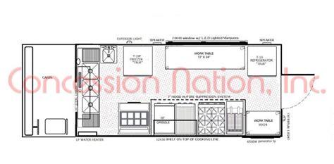 food truck floor plans blueprints food trucks images