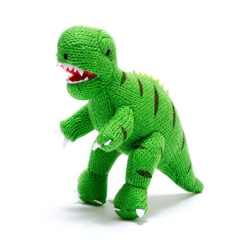 knitted baby rattle knitted t rex green rattle kidiko handmade toys gifts