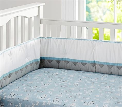 Organic Crib Bedding Organic Theo Baby Bedding Set Pottery Barn