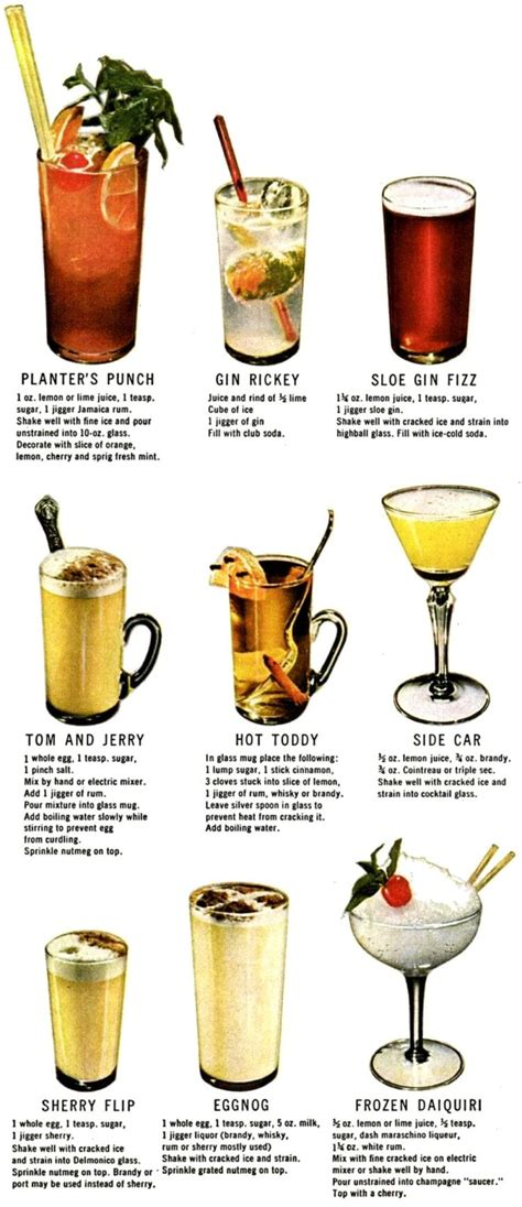 vintage cocktail how to 30 cocktails drinks 1946 click