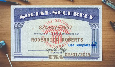 ssn card template psd usa social security card template usa template psd