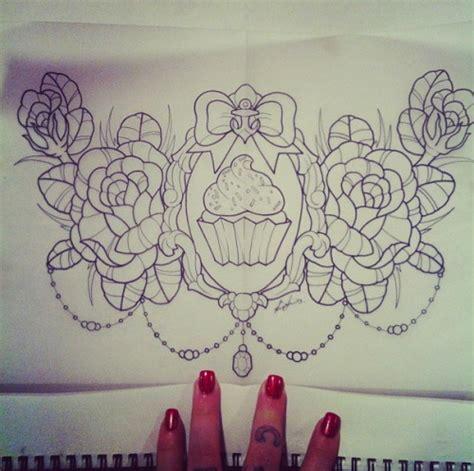rose tattoo on chest tumblr cupcake tattoo on tumblr