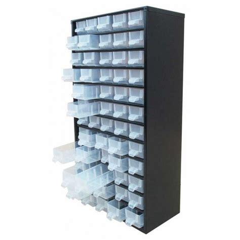 Bloc Tiroir Metal by Bloc Tiroir De Rangement Casier En M 233 Tal Noir 60 Tiroirs
