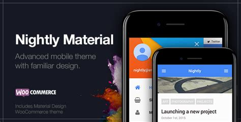 mobile themes themeforest nightly material mobile theme for wordpress by
