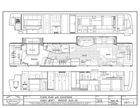 prevost floor plans 2006 prevost marathon xliidouble slide
