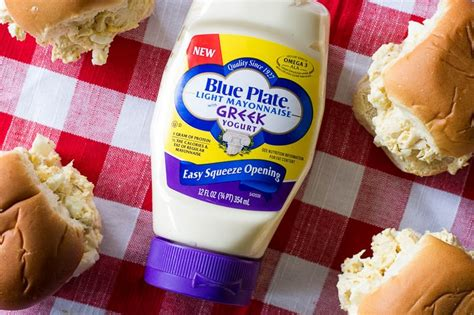blue plate light mayonnaise with yogurt light chicken salad sandwich recipe