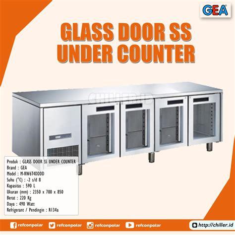 Gea M Rw6t2hh Stainless Steel Counter Chiller Maskitchen jual m rw6t4dddd glass door stainless steel counter gea