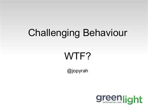 types of challenging behaviours challenging behaviour