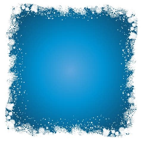 blue background with snoflake frame vector free download