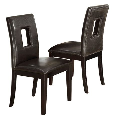 set of 2 dining room furniture brown leather dining set of 2 upholstered high back dining side chair stool