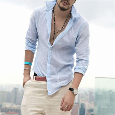 Yamica Shirt Khaki casual shirt cotton linen shirt hawaiian plain social