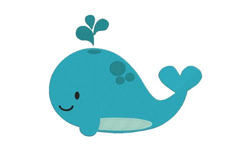 And Baby Whale Cuttable Design - whale machine embroidery design baby whale