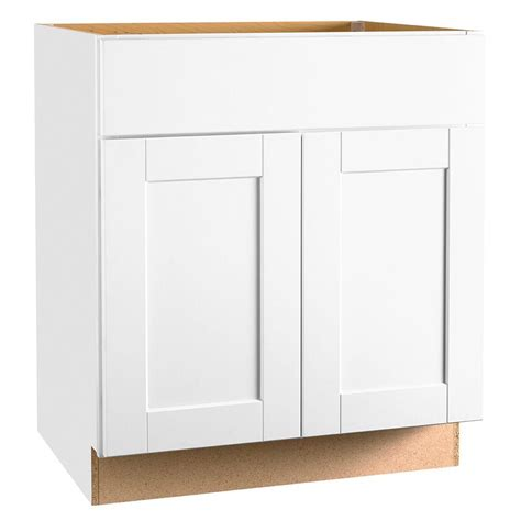 Cabinet Door Glides Hton Bay Shaker Assembled 30x34 5x24 In Base Kitchen Cabinet With Bearing Drawer Glides