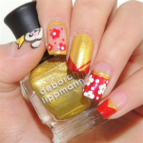 gelish nail designs for new year gelish nail designs for cny home design ideas