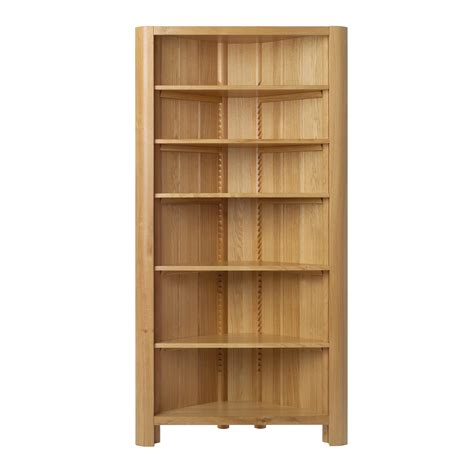 interior wood sides corner bookcase