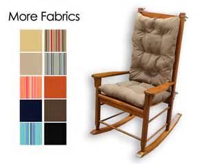 white rocking chair pad sunbrella indoor outdoor rocking chair cushion set choose