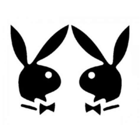 playboy bunny coloring pages playboy bunnies 2 l r facing outline vinyl sticker