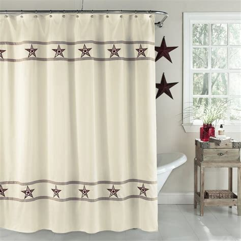 shower curtain with stars lorraine country stars fabric shower curtain altmeyer s