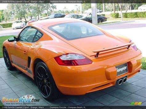 porsche cayman orange 2008 porsche cayman s sport orange black photo 5