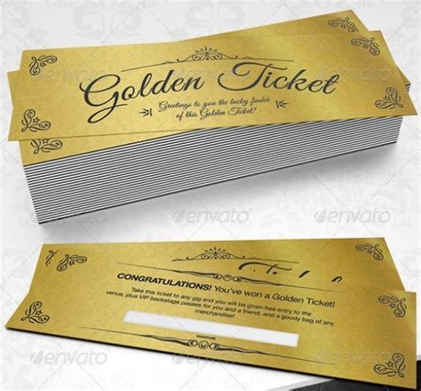 46 Print Ready Ticket Templates Psd For Various Types Of Events Psdtemplatesblog Golden Ticket Template Word Document