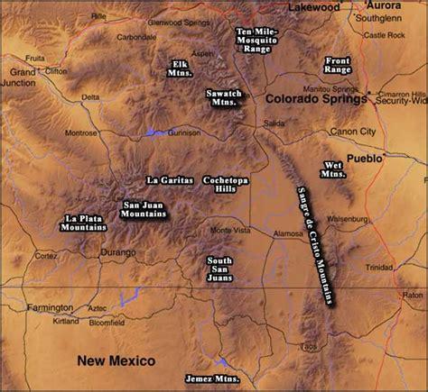 colorado mountains map the colorado mountains