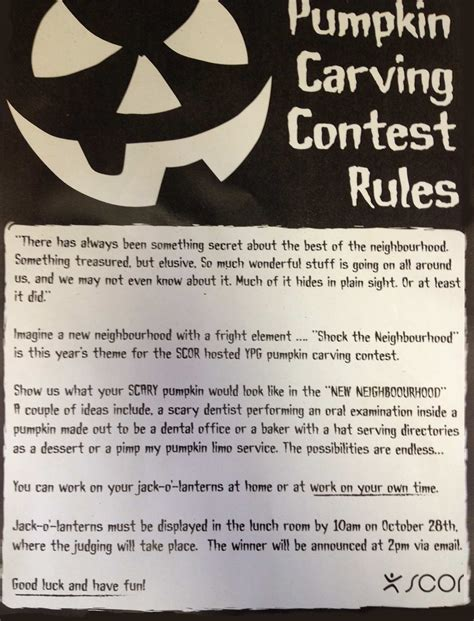 graphic design contest rules 1st place in pumpkin carving christopher paterson