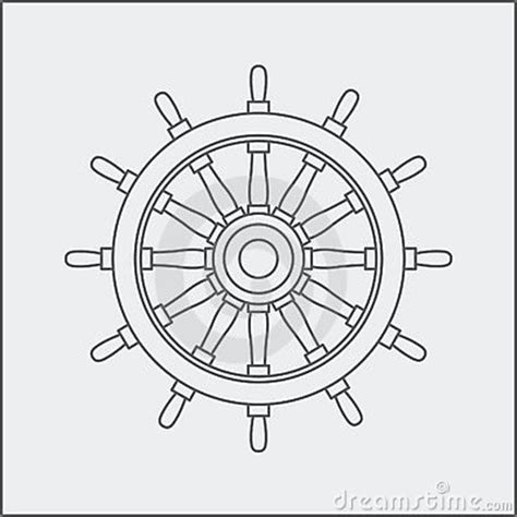 how to draw a boat steering wheel drawing of ship wheel royalty free stock image image