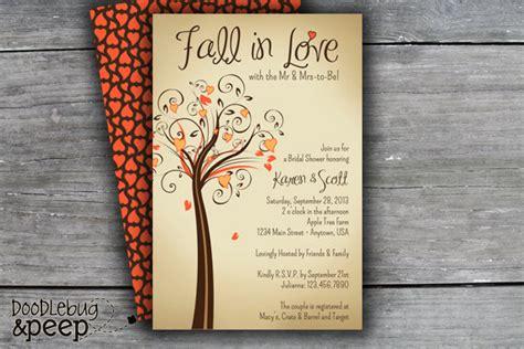 fall in wedding shower invitations fall in bridal shower invitation digital file 2316651 weddbook