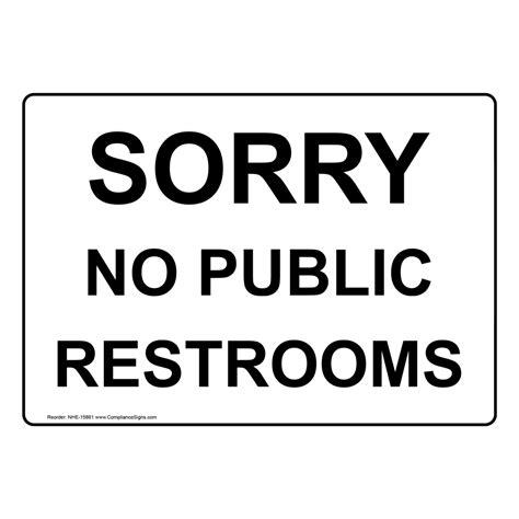 Free Printable No Restroom Signs