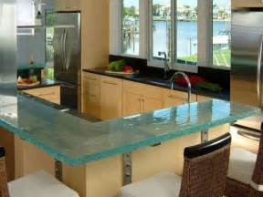 bloombety types of countertops for kitchen with glassy