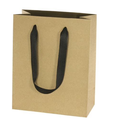 Paperbag Craft Ukuran 27 13 15 80 recycled style brown kraft paper shopping bag black ribbon handles