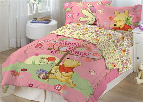 Cheerful And Frienly Winnie Pooh Bedding Set For Cheerful Winnie The Pooh Bedroom Furniture Set