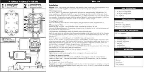start relay orbit sprinkler wiring diagram wiring