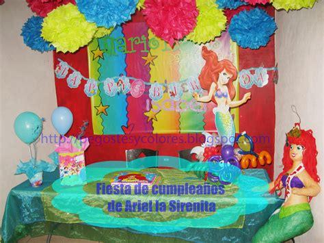 como decorar un pastel de la sirenita ariel pegostes y colores fiesta de cumplea 241 os de ariel la sirenita