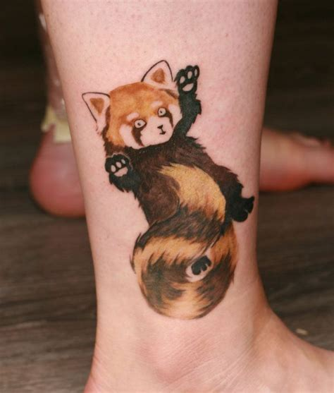 panda tattoo temporary red panda tattoo by angelique grimm by angelique grimm